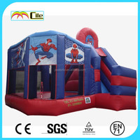 CILE 2015 Newly Design Customized Inflatable Spiderman Bouncy Castle with Slide