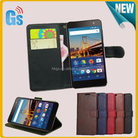 Wallet Flip Style Crazy Horse Leather Case For Google Android One For General Mobile 4G