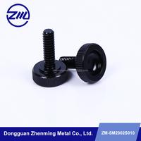 custom stainless steel black anodized knurled thumb screw,knob screw