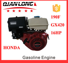 Customized 16HP 190F Air Cooled Gasoline Engine single cylinder gasoline engine sale