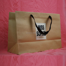 Hand Length Handle Sealing & Handle and Accept Custom Order Die Cut Handle Kraft Paper Bag