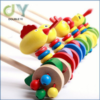 Custom high quality promotional kids educatonal gifts non-toxic paint Wooden Walker toys