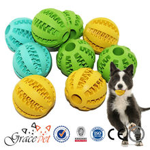 Grace Pet - chewing dog rubber ball with teeth for dog food