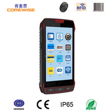 Industrial class handheld GPS/WIFI/3G/Bluetooth 1D 2D barcode scanner, nfc reader, android gprs 2 meters rfid reader phone