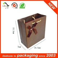 Fashionable Ribbon Paper Sandwich Paper Bag With Rope Handle