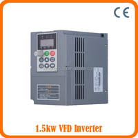 CE Approved Variable ac frequency inverter 1.5KW 50/60HZ/VSD/AC drive /Frequency Converter