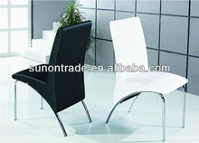2014 modern chrome black dining room chair