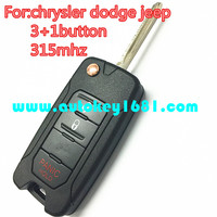 MS 2016 newest flip key 2+1 button remote control 315mhz for car chrysler dodge jeep oht key