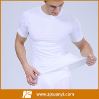 2015 gym spandex camisa masculina hombre t shirt Bodybuilding and fitness white tshirt Muscle men's sportswear