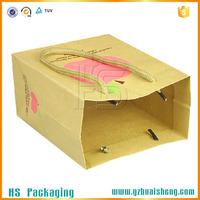 Customized slap-up Recycled kraft paper bag/strong brown paper bag/craft paper bag