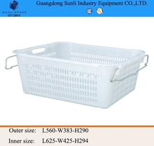 62L Outdoor Cheap PE Storage Plastic Picnic Basket with handle
