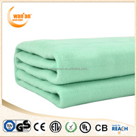 Single 100% Polyester Portable Electric Heated Blanket for bed warm