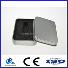 Wholesale metal U-disk tin box, USB tin can, Flash drive tin box
