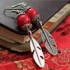 Fashion retro red stone earring,pendant earring(SWTNSXR704)
