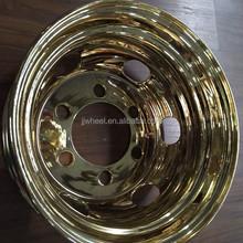 Gold-plating chrome steel wheels