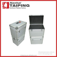 Silver Heavy Duty Aluminum Tool Packing Storage Case Wine Shipping Box