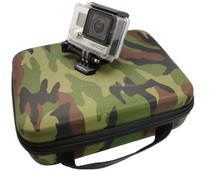 Army Color Case Middle Size For Gopro Bags For Hero 3 2 1 Hero3 action camera Accessories