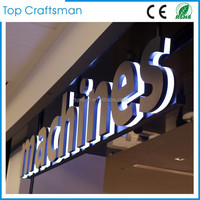 Customized Stainless steel led backlit signs Outdoors Illuminated Channel Letters