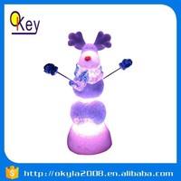 RGB LED light mini plastic deer head decoration toys