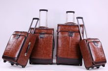 2014 baigou factory newest leather business trolley bag office luggage