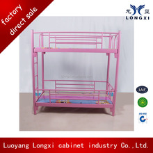 Wholesale cheap new design children bunk bed, kids bunk bed with tunnel, pink bunk bed
