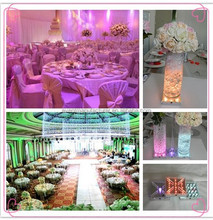 Wedding centerpieces multi colors rechargeable crystal flower stand with remote control