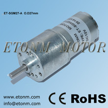 27mm central shaft 12v dc electric motor gearbox motor, electrical lock used 12volt dc geared motor ET-SGM27
