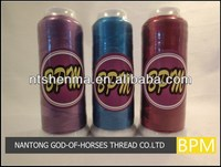 Good quality custom-made embroidery thread of cones plastic