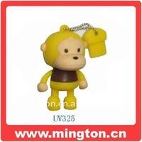 Cartoon animal Yellow monkey usb drive 2gb
