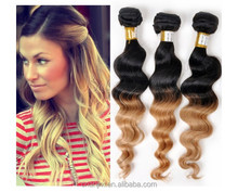 No Mix No Lice No Animal 3pcs/lot Brazilian Ombre Loose Wave Remy Hair Two Tone Color 1B/27#