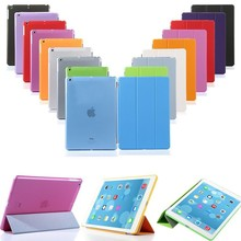 Smart magnetic stand Cover + hard Back Case for apple new iPad Air 2