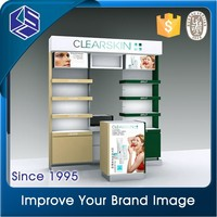 makeup stand with lights rack upright post advertising cosmetic display stands
