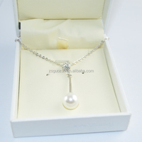 Wholesale special drop necklace/pendent necklace/necklet/collars/neck ring with pearl for girls and women