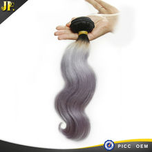 2015 fashion milky long lasting new products human star tangle free hair extensions grey
