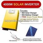 4000w surge 8kw 24v 60a puroinversor de onda senoidal upsinversor solar carregador