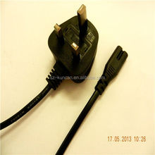 Excellent quality UK Lead Plug Cord IEC C7 Fused Cord UK New Fig 8 from oem factory