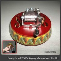 2015 Hot Sales Top Quality Hot Design Round Music Box