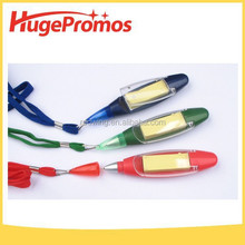 Promotional Plastic Shaped Pocket Ball Pen with Memo Sticker