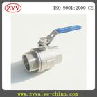 Válvula de esfera de aço inoxidável ss316 2-PC imagem