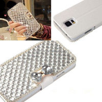 Luxury diamond Gilitter wallet flip cell phone case for samsung phones