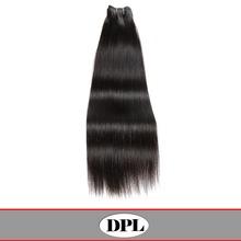 Natural black raw unprocessed yaki straight virgin indian hair wholesale