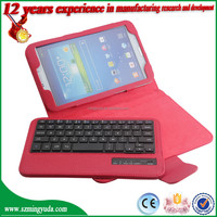 Factory Detachable Flip Stand Leather Bluetooth Keyboard Case for Samsung Galaxy Tab Pro 8.4