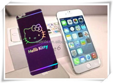chain manufactory catoon screen protector glass for iphone6 , colour tempered glass screen protector mobile phone