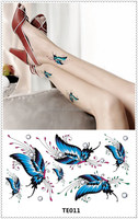 TE011 The Butterfly Body Tattoo Stickers /Safe Temporary body sticker tattoos