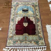 2.5x4ft Mecca Mosque Hajj Persian Islamic Prayer Carpet for Muslim