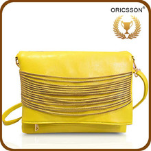 New Arrival Woman Long Strip Bag Pattern Shoulder Bag with gold chain