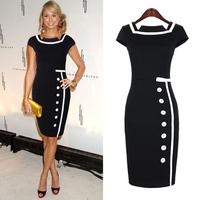 Walson 2014 Fashion Glamorous Celebrity elegant Style bodycon summer midi ladies dress19835 Boutique boutique