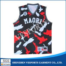 Custom printed dri fit basketball uniform design