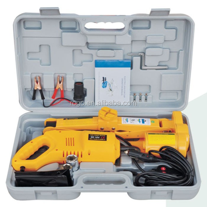 Powered 12v Electric Car Jack With Impact Wrench Price - Buy Electric