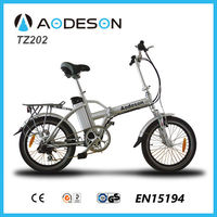 EN15194 approval mini foldable electric bike TZ202 with lithium battery pocket bikes for girl easy ride